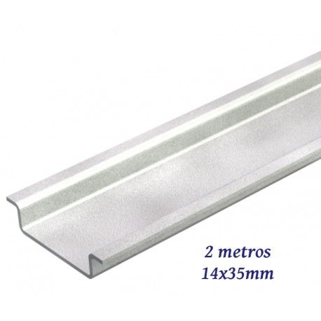 CARRIL DIN CIEGO 14X35MM BARRA INDIVISIBLE 2 METROS