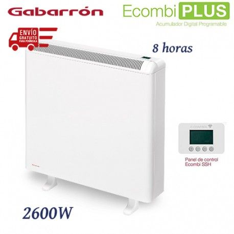 ACUMULADOR DE CALOR DE 2600W 8 HORAS DE CARGA DIGITAL WIFI GABARRON ECO408 PLUS