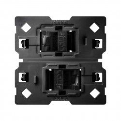 CONECTOR DOBLE RJ45 CATEGORIA 6 UTP CON ADAPTADOR SIMON 100 10002544-039