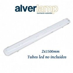 PANTALLA ESTANCA PARA TUBOS LED 2X1500MM IP65 ALVERLAMP LPE21500