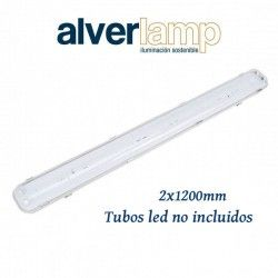PANTALLA ESTANCA PARA TUBOS LED 2X1200MM IP65 ALVERLAMP LPE21200