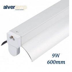 REGLETA LED 9W 1 TUBO 6000K 600MM ALVERLAMP LRT51X09