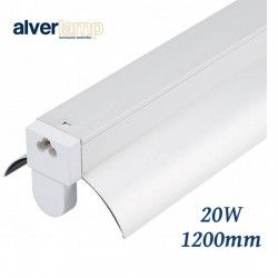 REGLETA LED CON REFLECTOR 20W 1 TUBO 6000K 1200MM ALVERLAMP LRT51X20