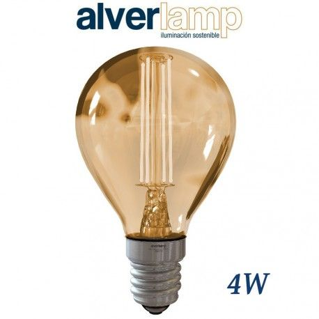 BOMBILLA LED DE FILAMENTO 4W REGULABLE ROSCA E14 2700-6000K ALVERLAMP LSFI0414W