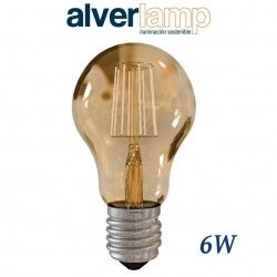 BOMBILLA LED DE FILAMENTO 6W REGULABLE ROSCA E27 2700-6000K ALVERLAMP LEFIA6006W
